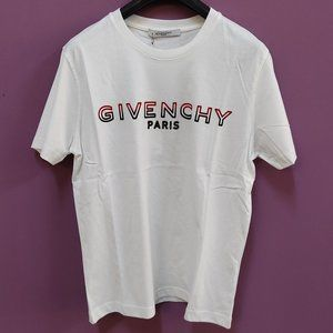 Givenchy Logo Print White Short Sleeve T-Shirt